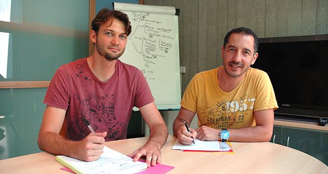 Boris et Farid, membres du comité d'engagement et d'appui solidaire de MCAE Isère Active pour Alma.