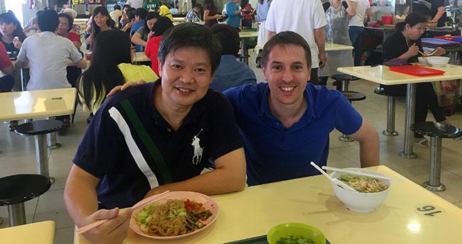 Arnaud à Singapour